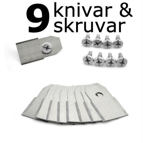 9 knivar av högsta kvalité till Husqvarna Automower och robotgräsklippare från Gardena